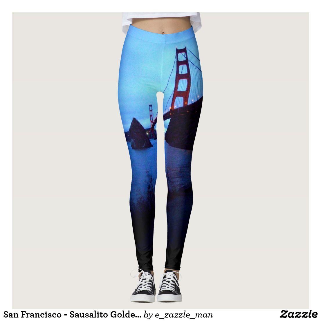 San Francisco Sausalito Golden Gate Bridge Leggings Zazzle Com Leggings Are Not Pants Custom Leggings Leggings