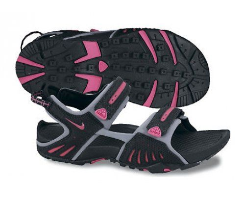 ffeb17aac22 Nike Wmns Santiam 4 Black Spark Pink Stealth Womens Sports Sandal ...