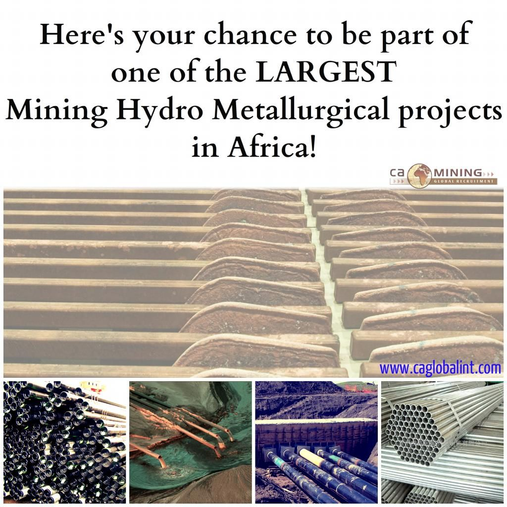 Piping Jobs in DRC for Massive Hydro Metallurgical Mining