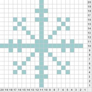 Snowflake Pattern | Knitting charts, Fair isle knitting ...