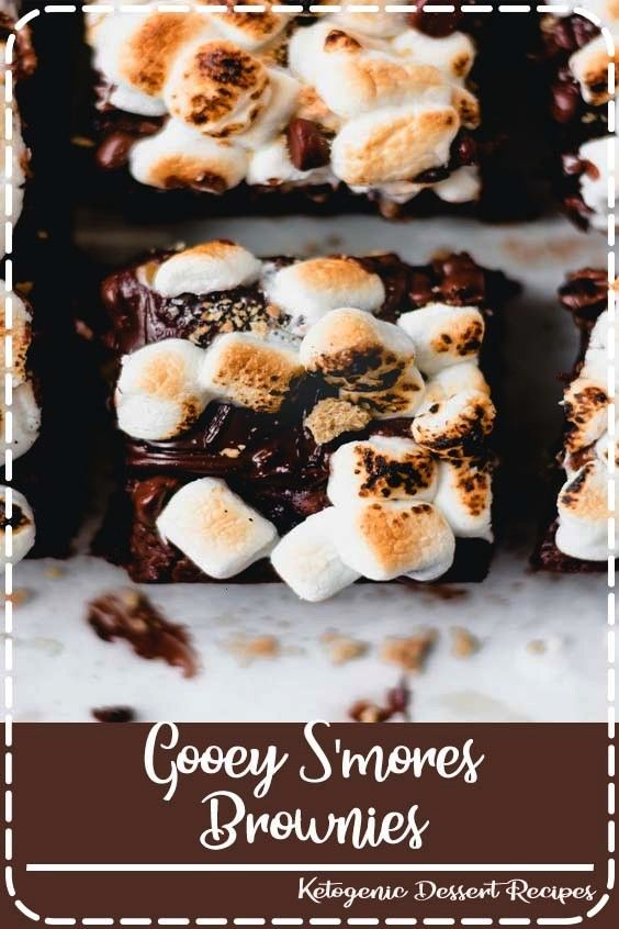 Brownies - There's no better way to indulge than with these S'mores Brownies! A gooey, rich layer