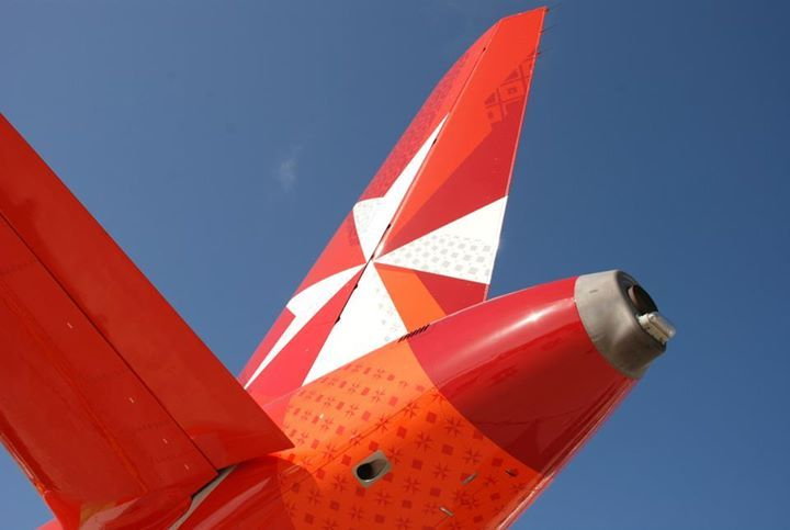 Air Malta upgrades its online and mobile check-in. | Air malta. Malta. Aircraft engine