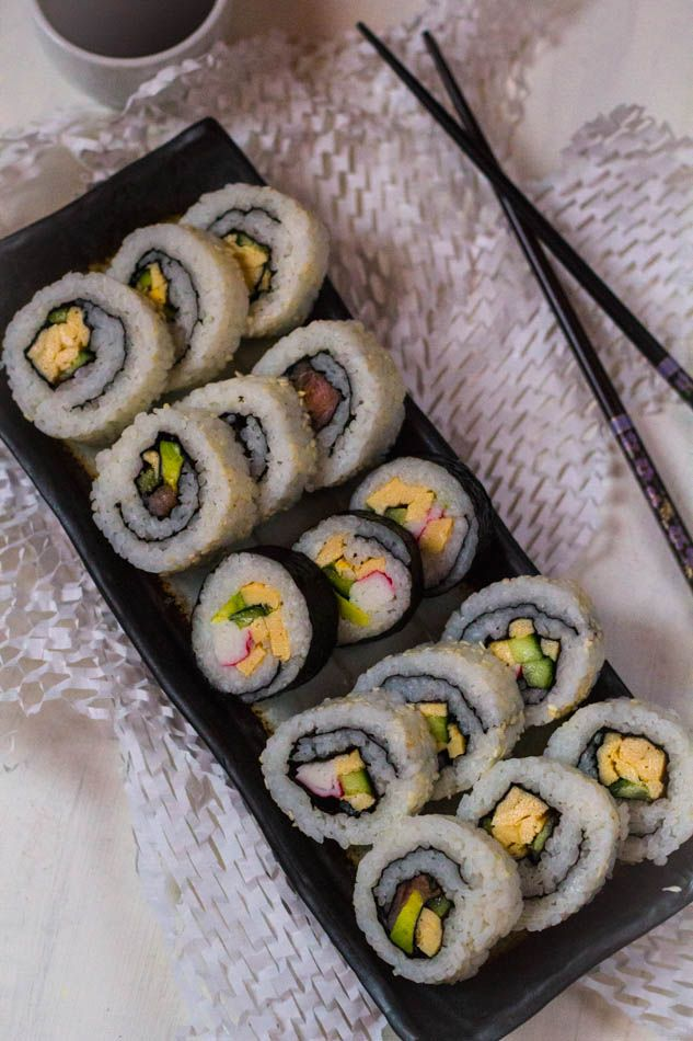 sushi vlees recept