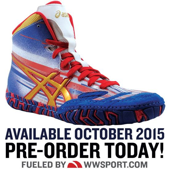 ASICS Aggressor 2 LE Lightning Strike Wrestling Shoe | Dustin ...