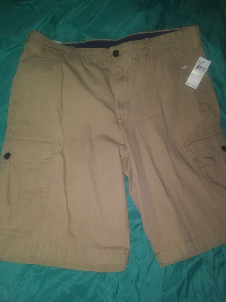 719ec537eb IZOD Saltwater Mens Size 34 Seaside Ripstop Cargo Shorts relaxed classics  kacki #fashion #clothing