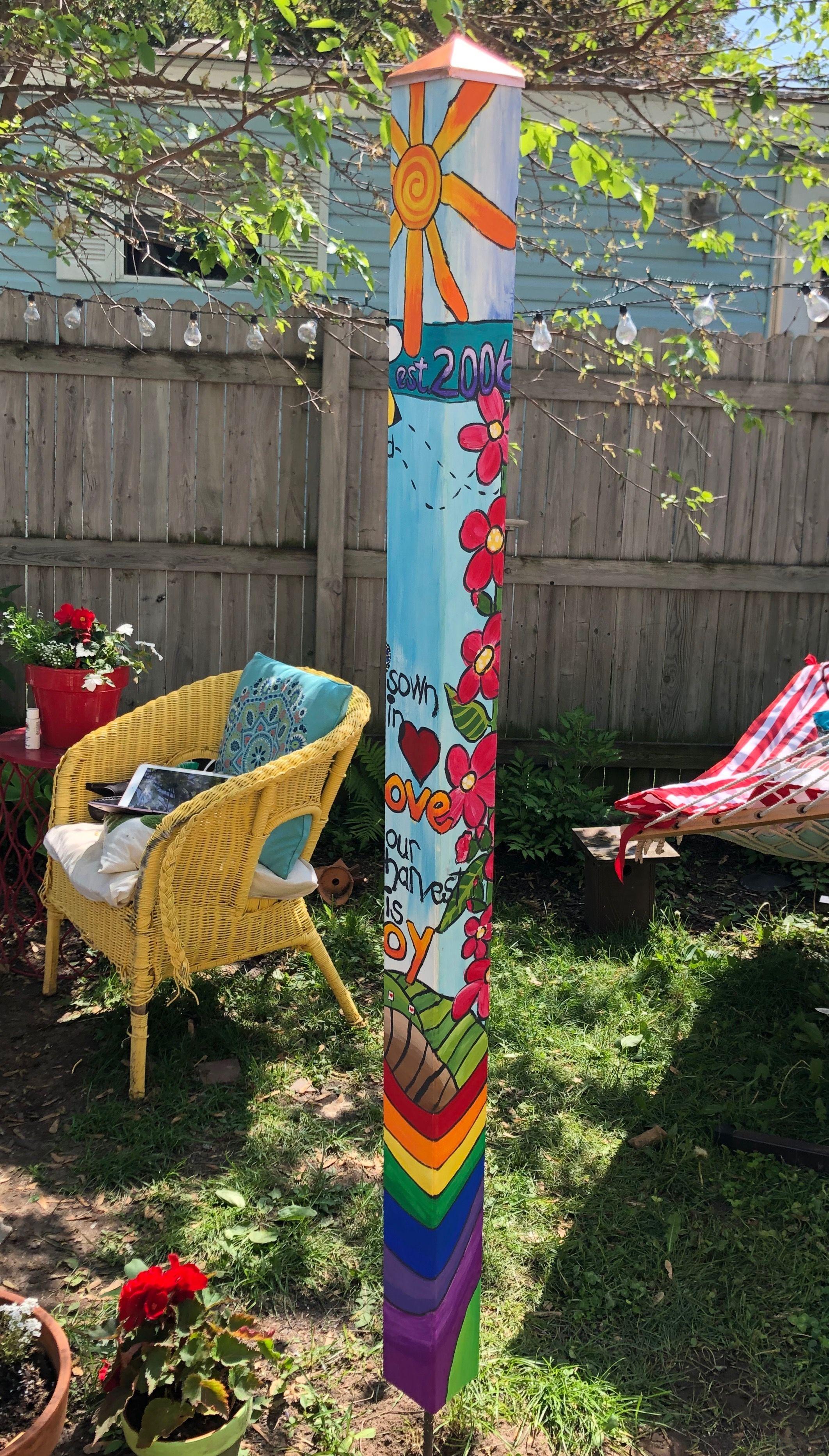 Jess Green Lake Wi 6 19 Art Pole Garden Crafts Yard Art