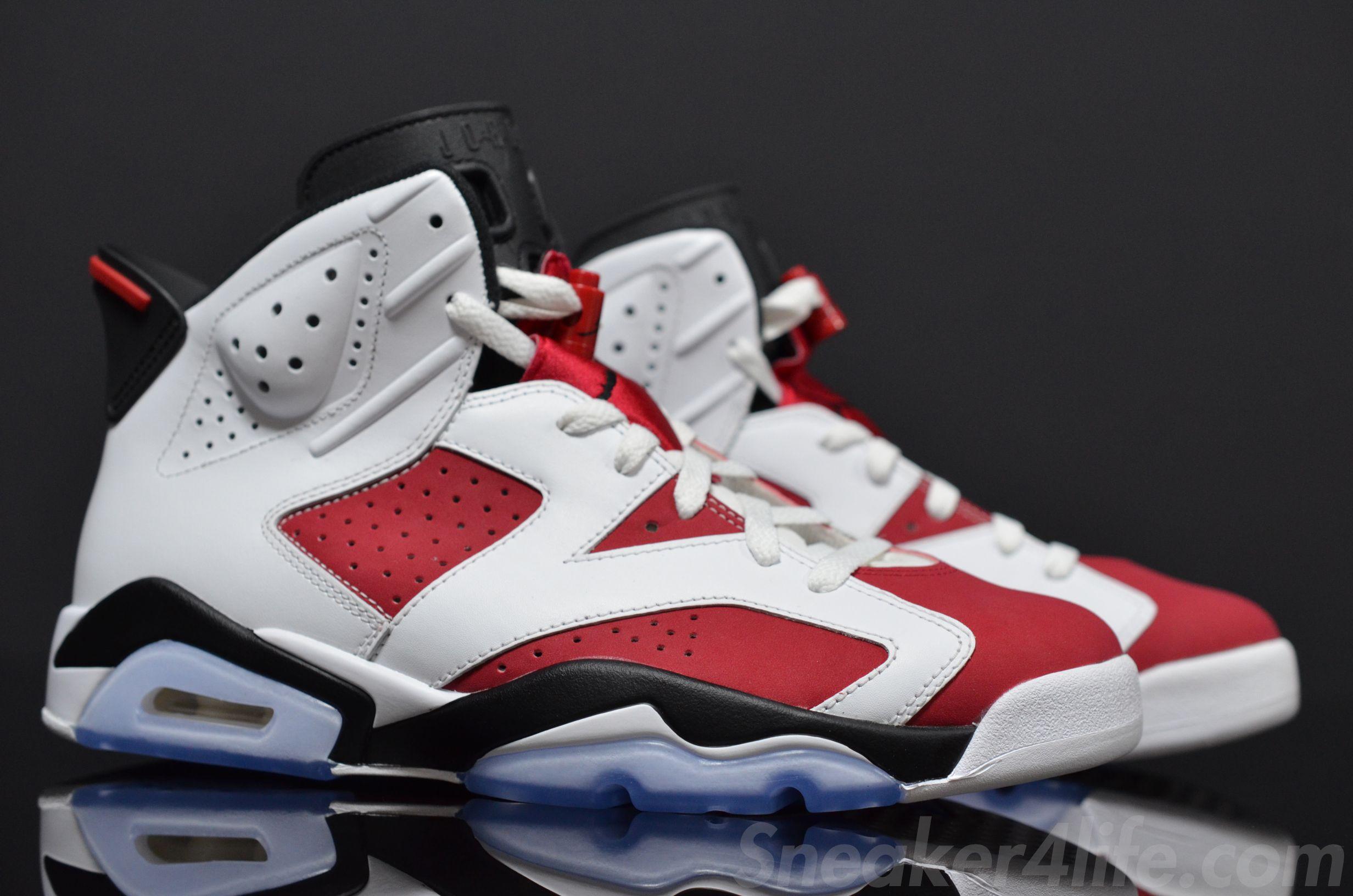 Air Jordan Retro 6 Rouge Carmin