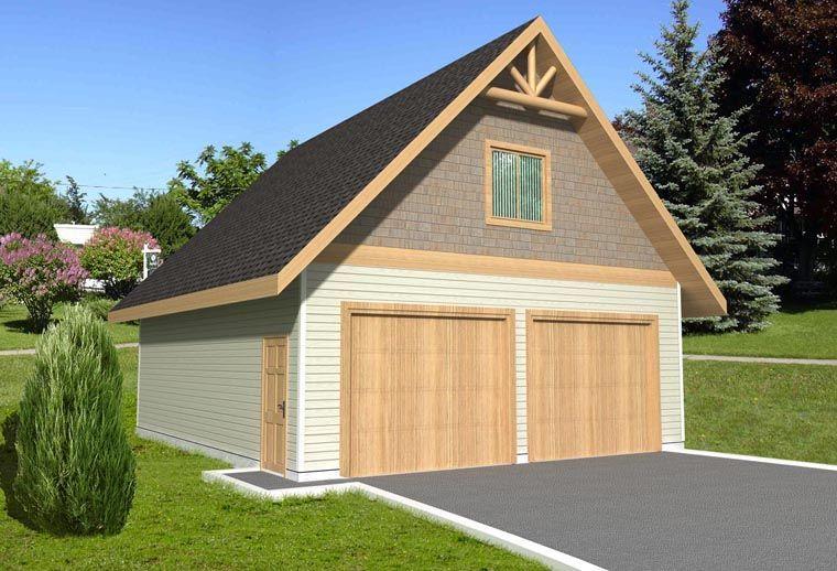 2 Car Garage Plan Number 85375 in 2020 Garage plans