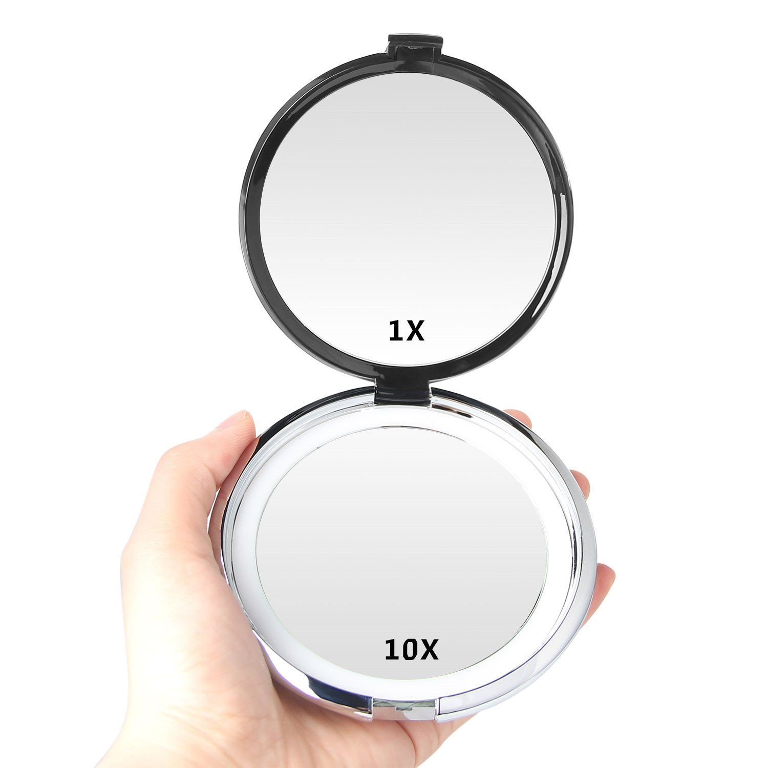 Magnifying Mirror E Yobe 1x 10x Magnification 4 13 Inches Lighted