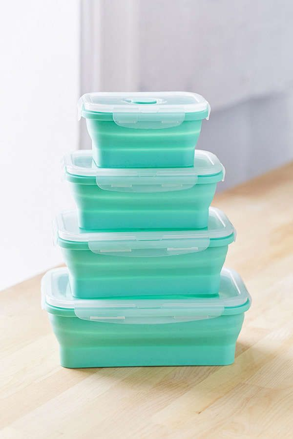 Silicone Collapsible Food Container Set Eat Pinterest Food