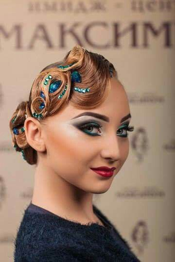 Gorgeous Ballroom Make Up | Hair Ballroom | Pinterest | Ballrooms Ballroom Hair And Dancing