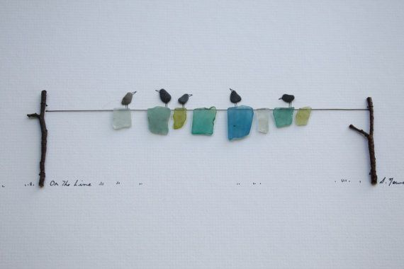Pebble Art of Nova Scotia by Sharon Nowlan - this isn't my work...but I do something similar - I collected flat stones and sea glass while in Nova Scotia
