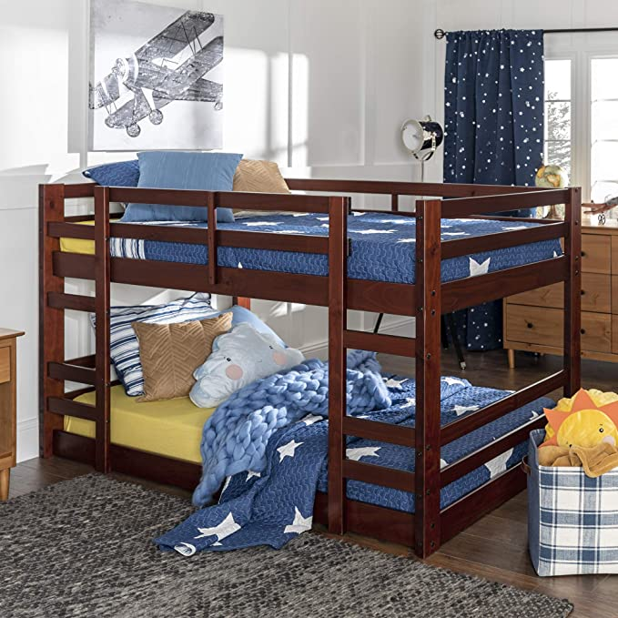 Small Space Dining Roomideas: Walker Edison Furniture Company Wood Twin Bunk Kids Bed