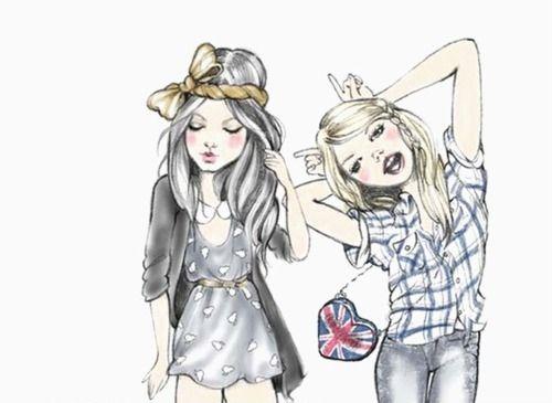desenhos tumblr de melhores amigas - Pesquisa Google