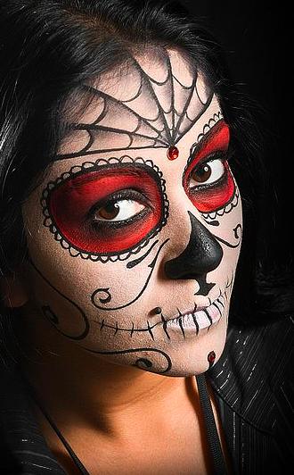 60 Extraordinary Face Painting Ideas Sugar skull face