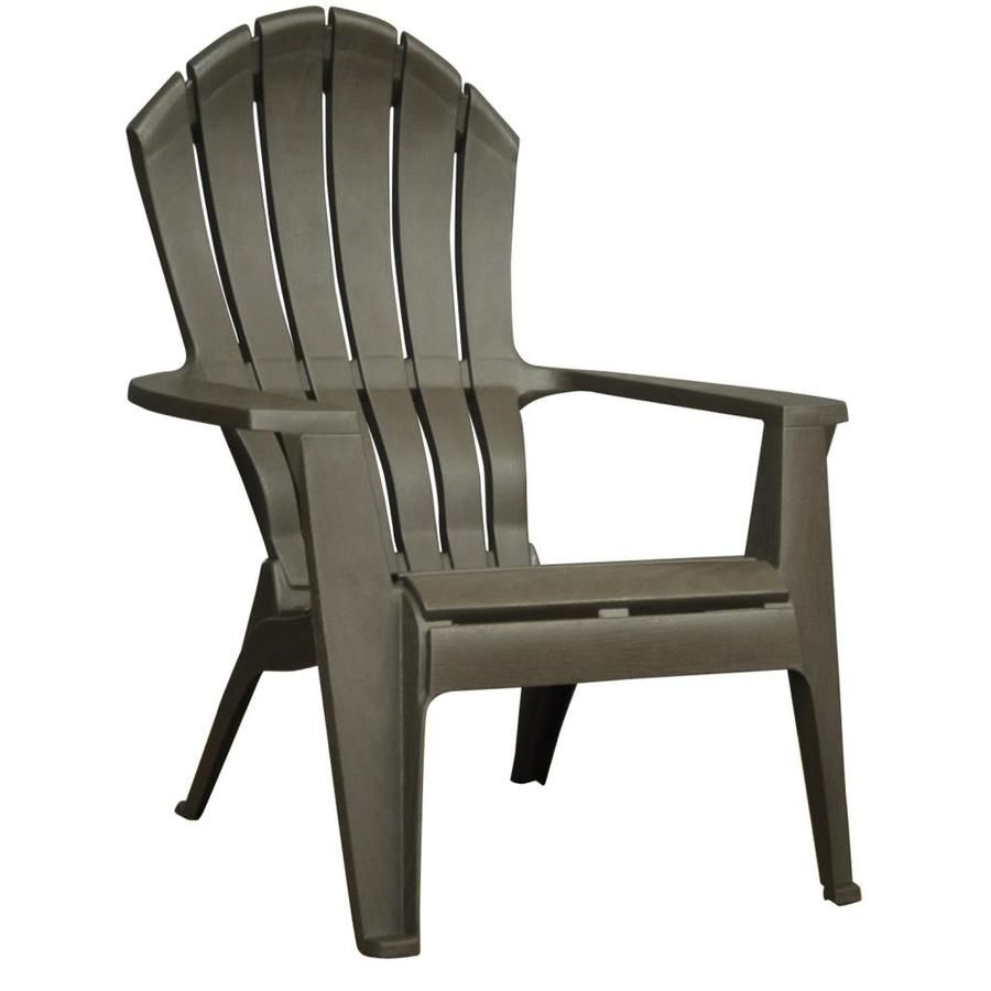 Lowes Outdoor Rocking Chair Adams Mfg Corp Earth Brown Resin Stackable Patio Adirondack Chair