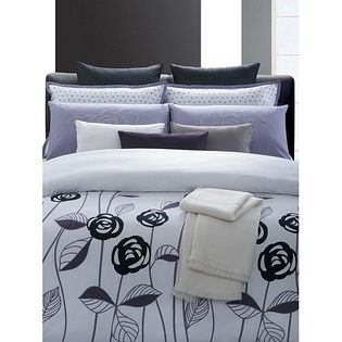 AT HOME by O Lavender Rose Cotton 7-piece Duvet Set