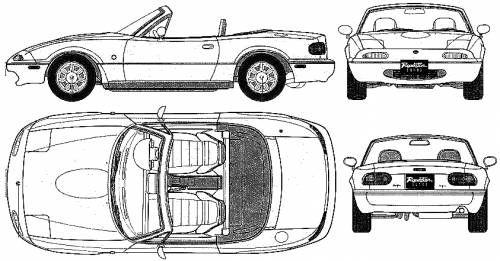 Blueprints Cars Mazda Mazda Mx 5 Miata 1995 Mazda Mx5 Mazda Mx5 Miata Miata
