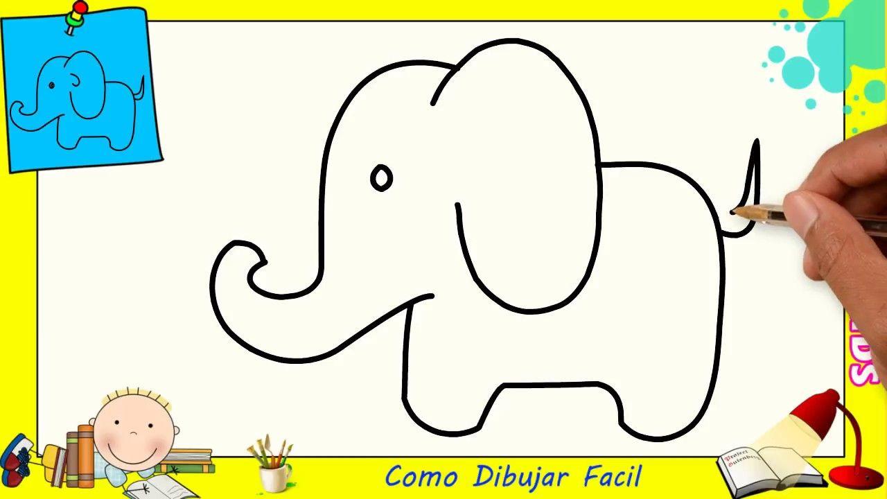 Como Dibujar Un Elefante Facil Paso A Paso Para Ninos Y