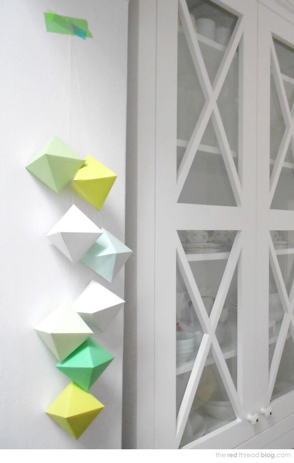 Get creative with your decor by making these 3d paper gems to free printable solutioingenieria Images