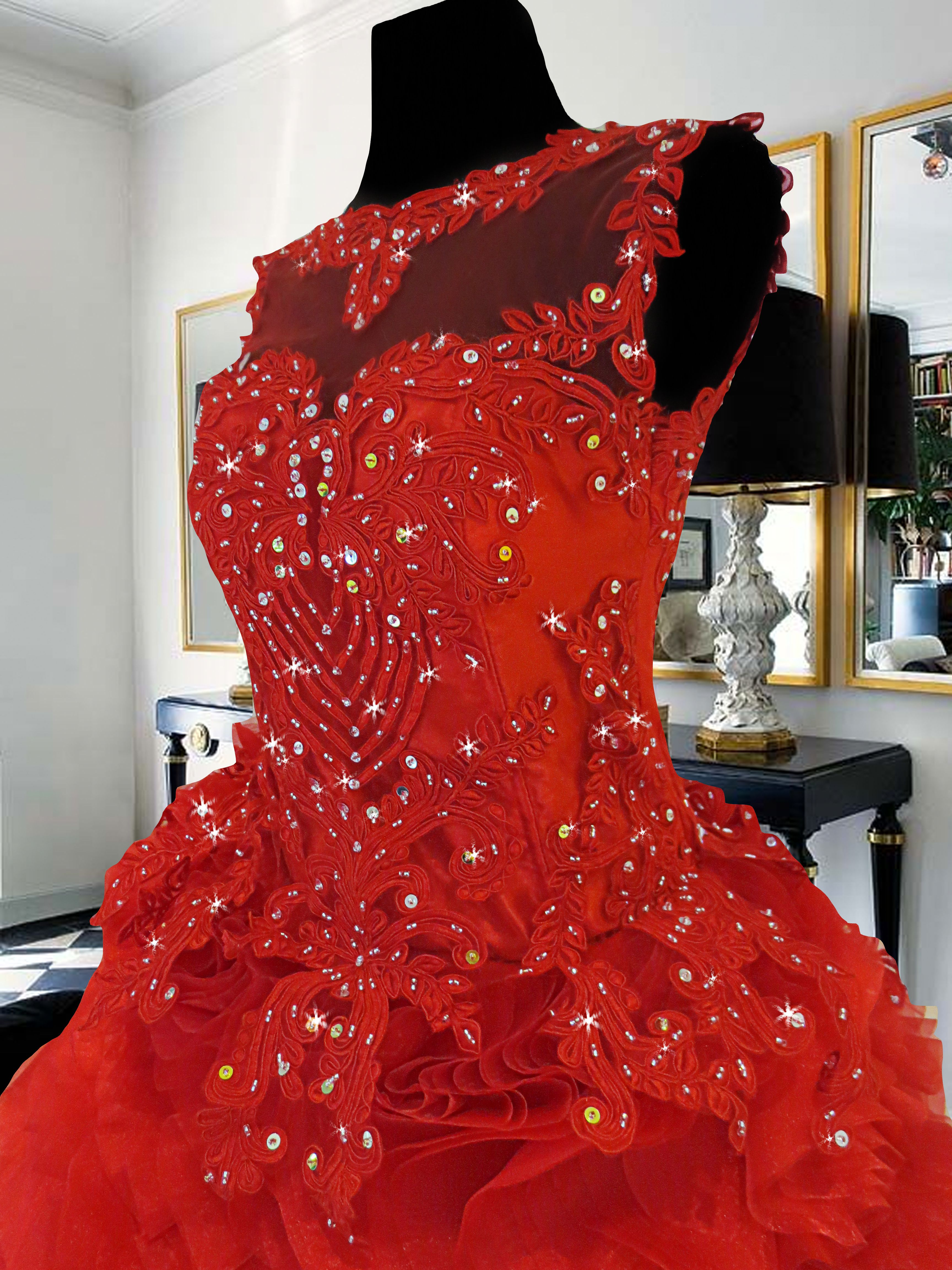 Red Ball Gown With Lace And Beadwork For Rent Php3 000 Www Gownforent Com Debut Flores De Mayo Pageant Sta Cru Cocktail Dress Dress Rental Red Ball Gowns
