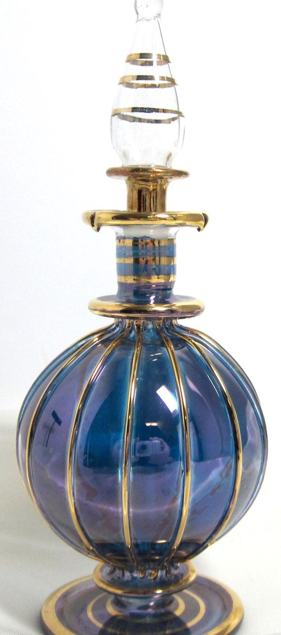 Vintage Perfume Bottle Hand Blown Glass by MickisVintageJewelry, $19.95