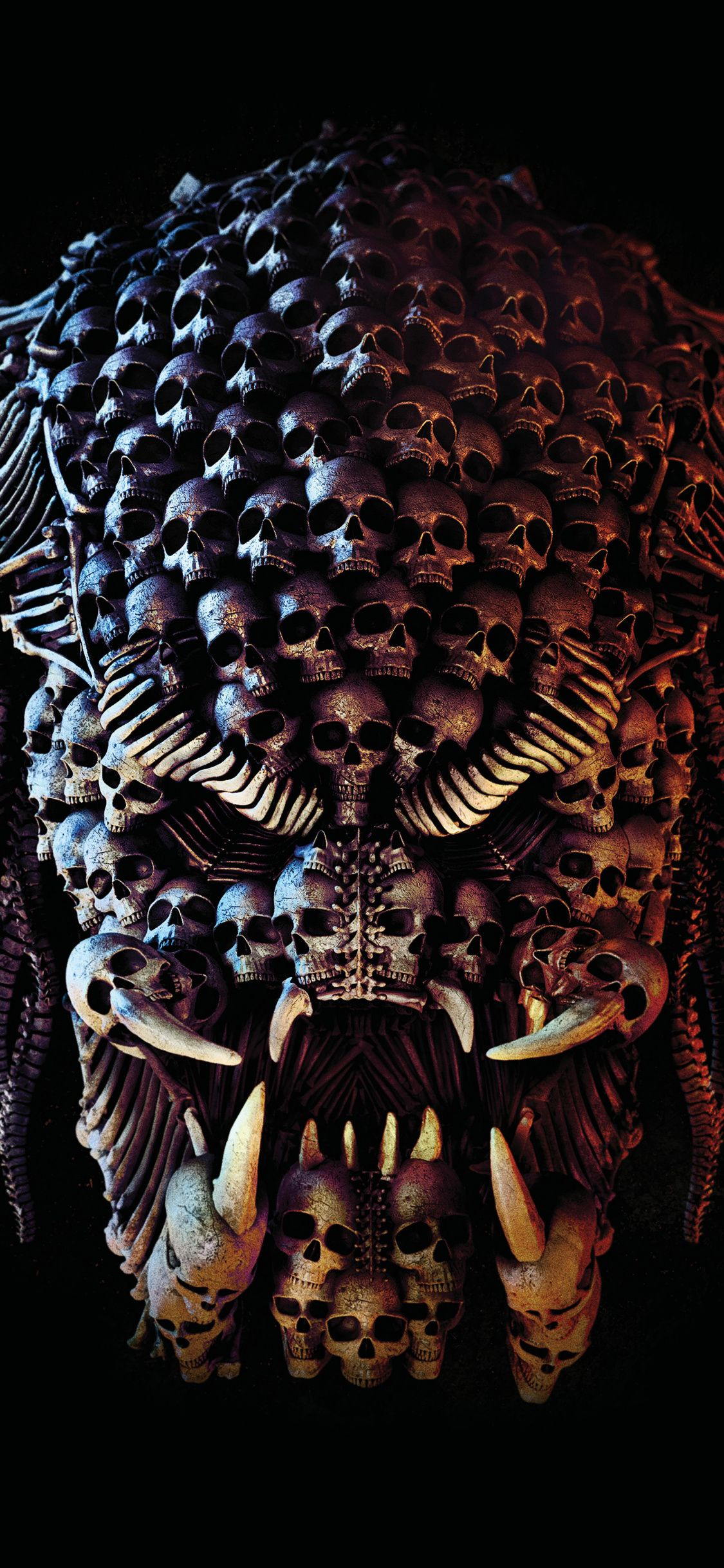 The Predator Creepy Face Skulls Movie 2018 1125x2436