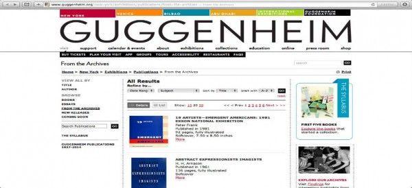 El Guggenheim ofrece gratis libros de arte por internet Son más de cien títulos que incluyen obras de Calder, Munch, Bacon y Kandinsky.