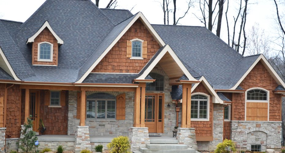Beautiful Home Picture And Photographs Steiner Homes Ltd Cedar Homes Exterior Fireplace Stone House Plans