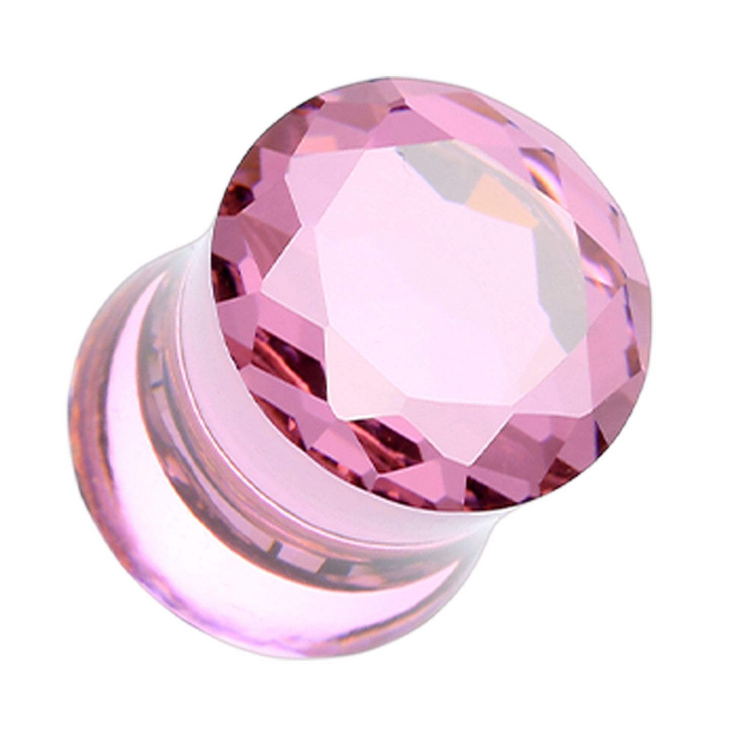 Purple Marble Swirl Glass Plugs Double Flare Ear Gauges