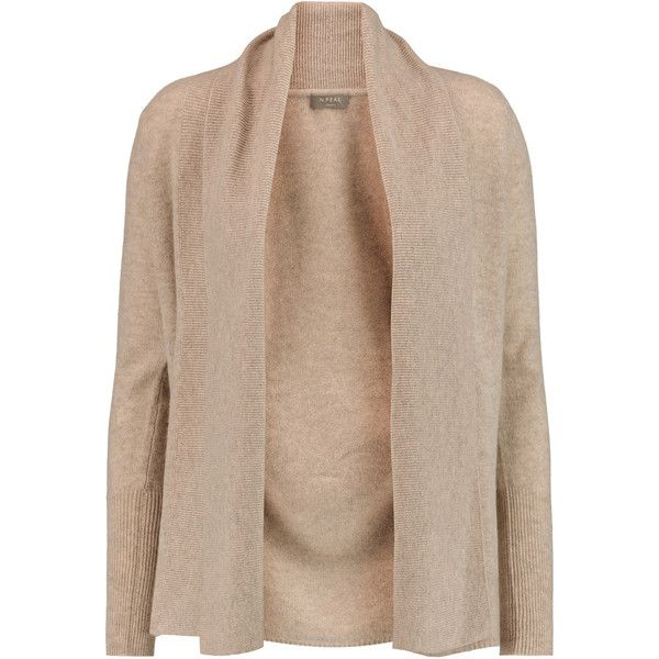 N.Peal Cashmere Draped cashmere cardigan ($194) ❤ liked on ...