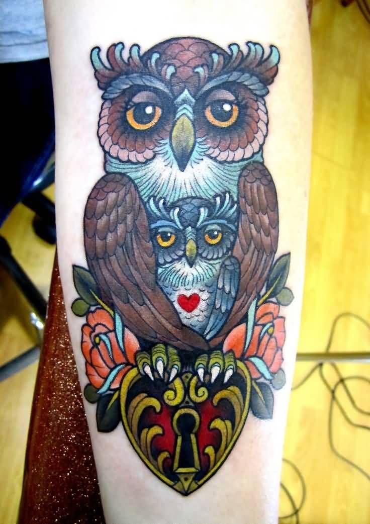 Mom Owl With Baby Owl Tattoo On Arm Owl Tattoos On Arm Baby Owl Tattoos Tattoos