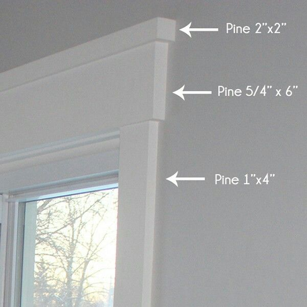 Craftsman Window Trim Flat Header With Cap Overhang Wood Molding