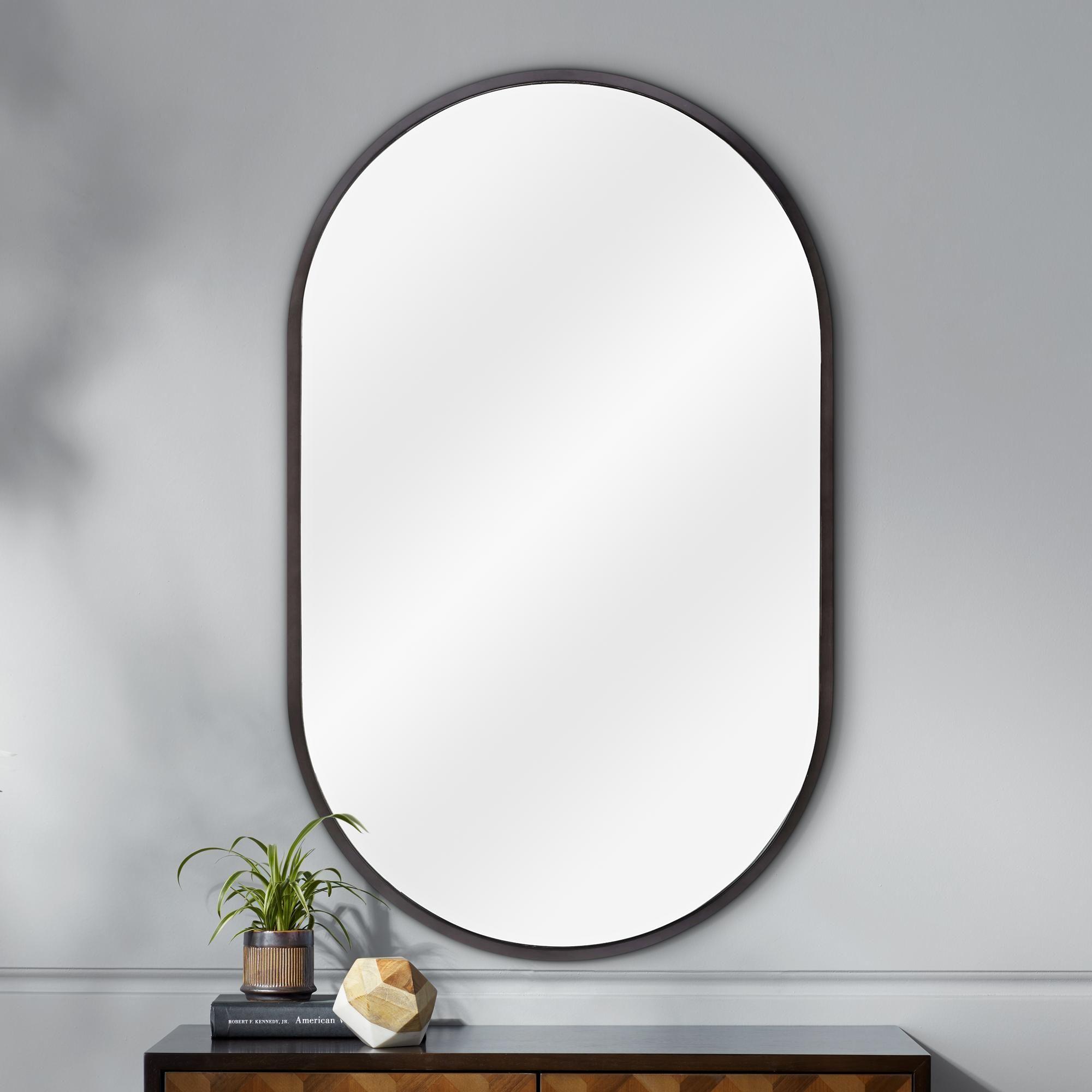 Mirrors Classics Canal Blackened Steel 24 X 40 Wall Mirror Mirror Wall Frames On Wall Mirror
