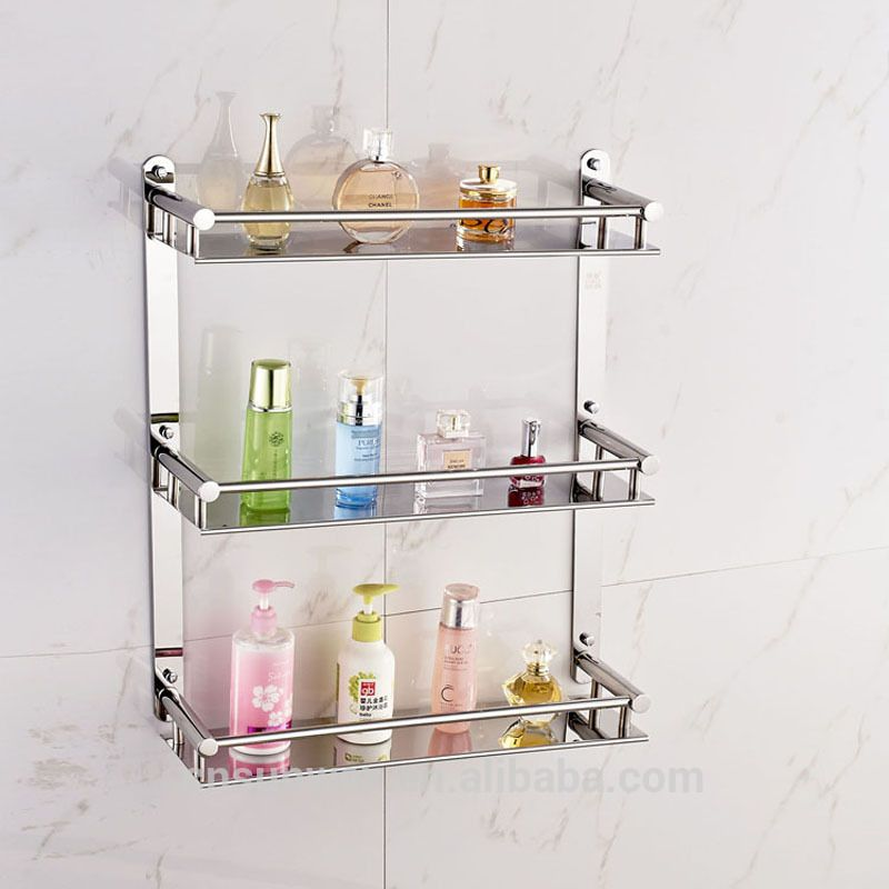 Wall Mounted Stainless Steel Bathroom Shelf Mental Racks