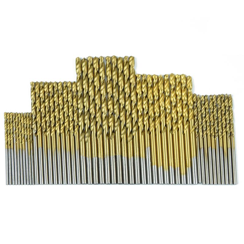 50pcs 1 1 5 2 0 2 5 3mm Titanium Coated Twist Drill Bit In