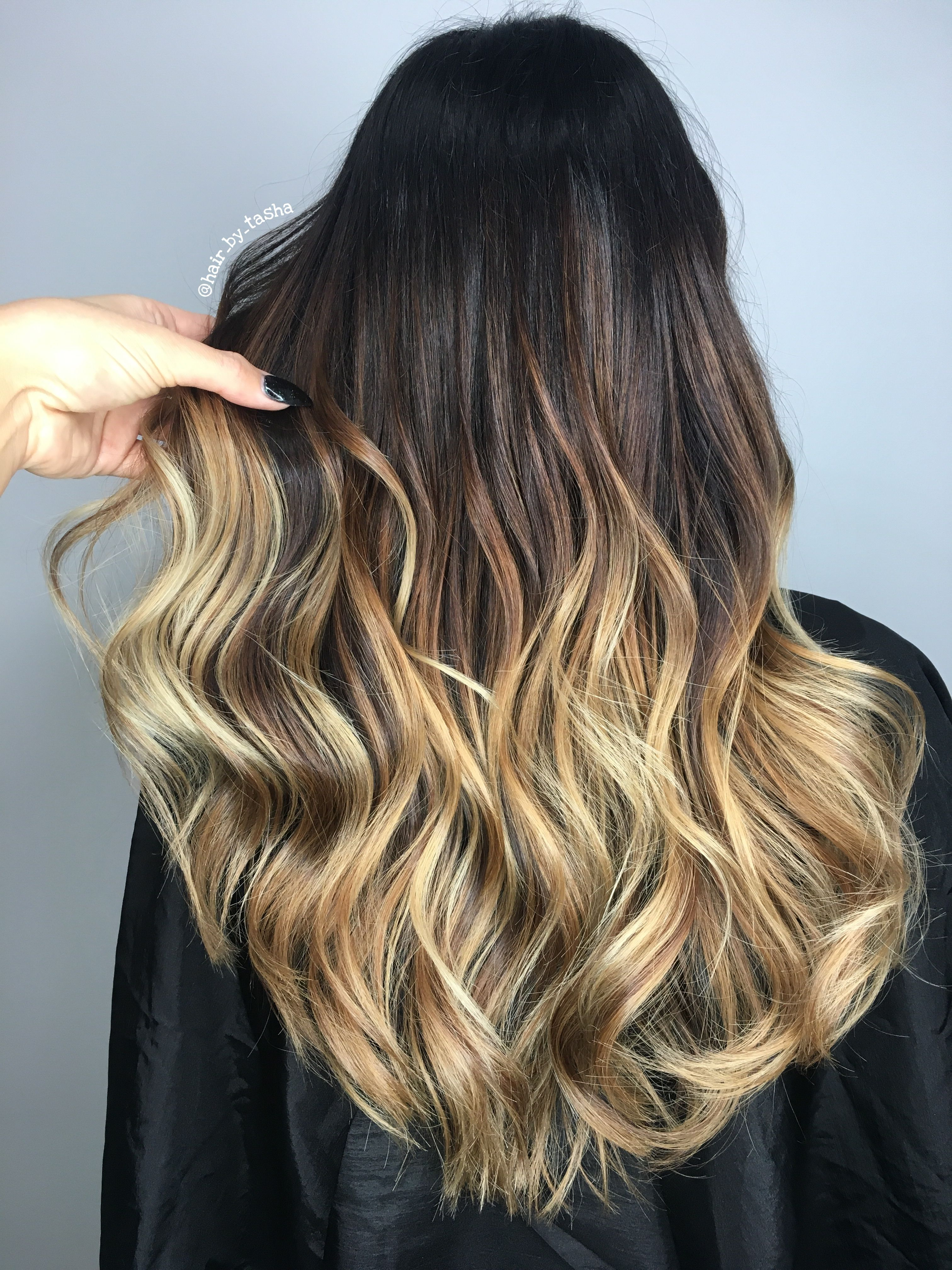 Brown To Blonde Balayage Ombre With Images Balayage Hair Hair