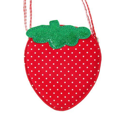 Sac à bandoulière pour enfant motif fraise
