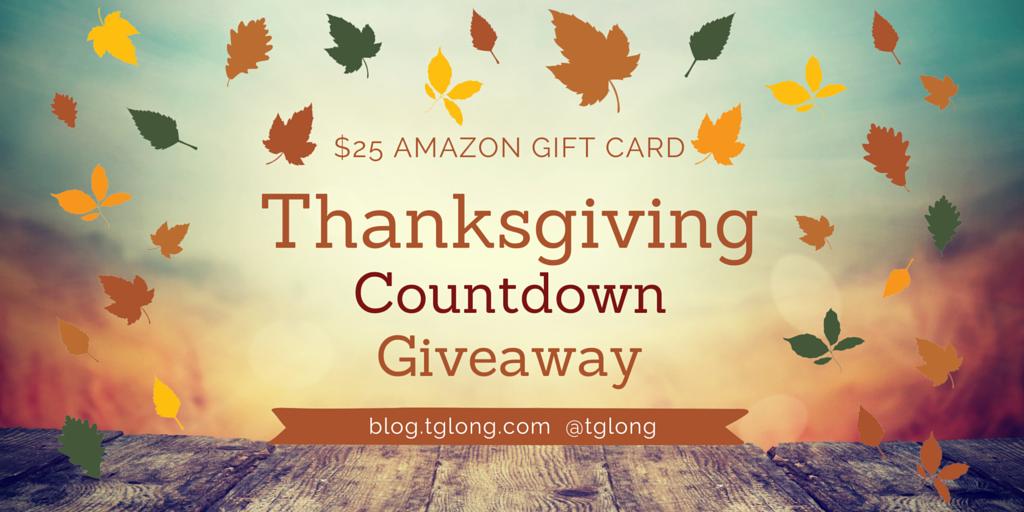 Thanksgiving Countdown Giveaway • Terri Giuliano Long