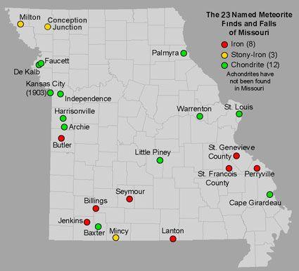 Missouri 23 meteorite finds Missouri Pinterest