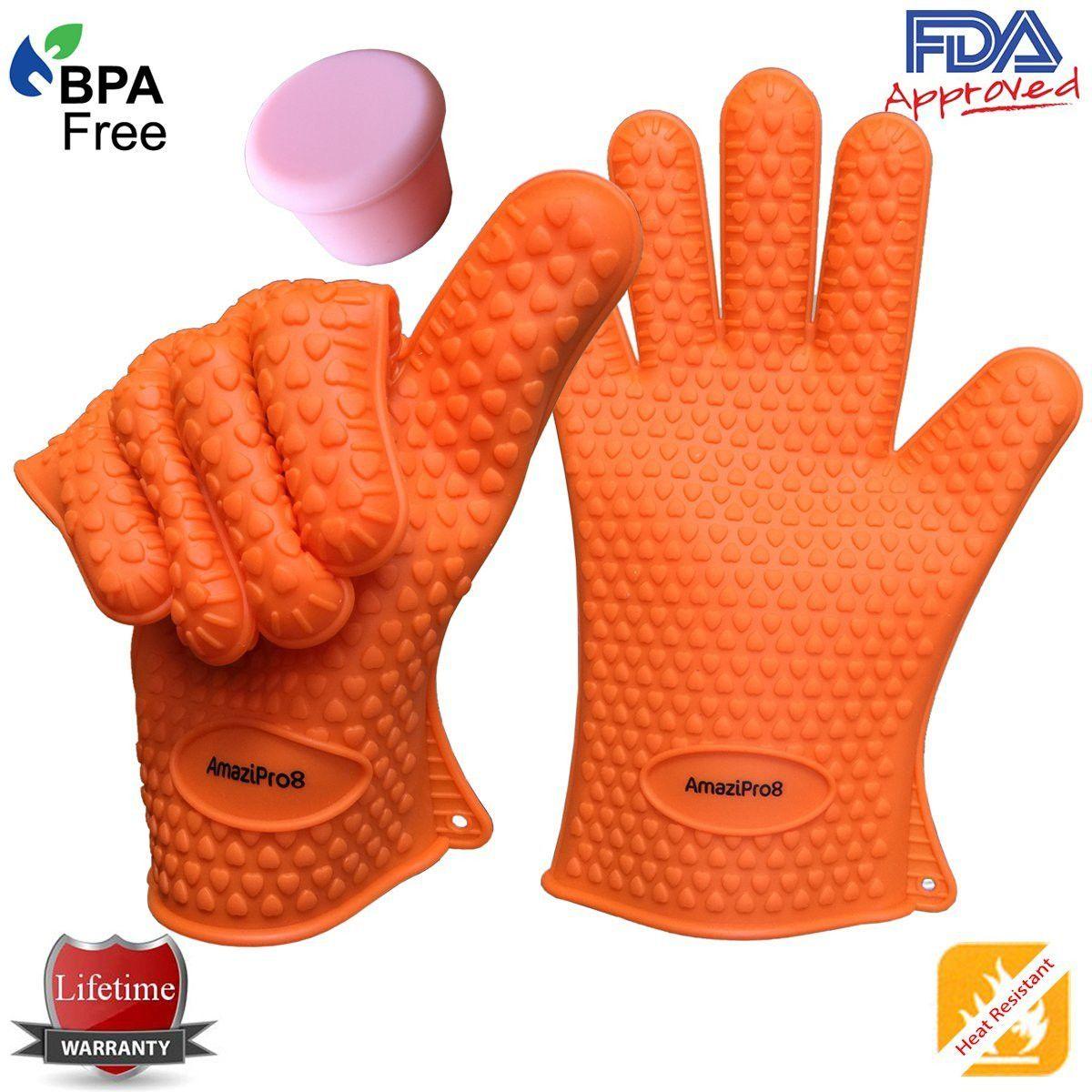 Heat Resistant Kitchen Gloves Silicone Bbq