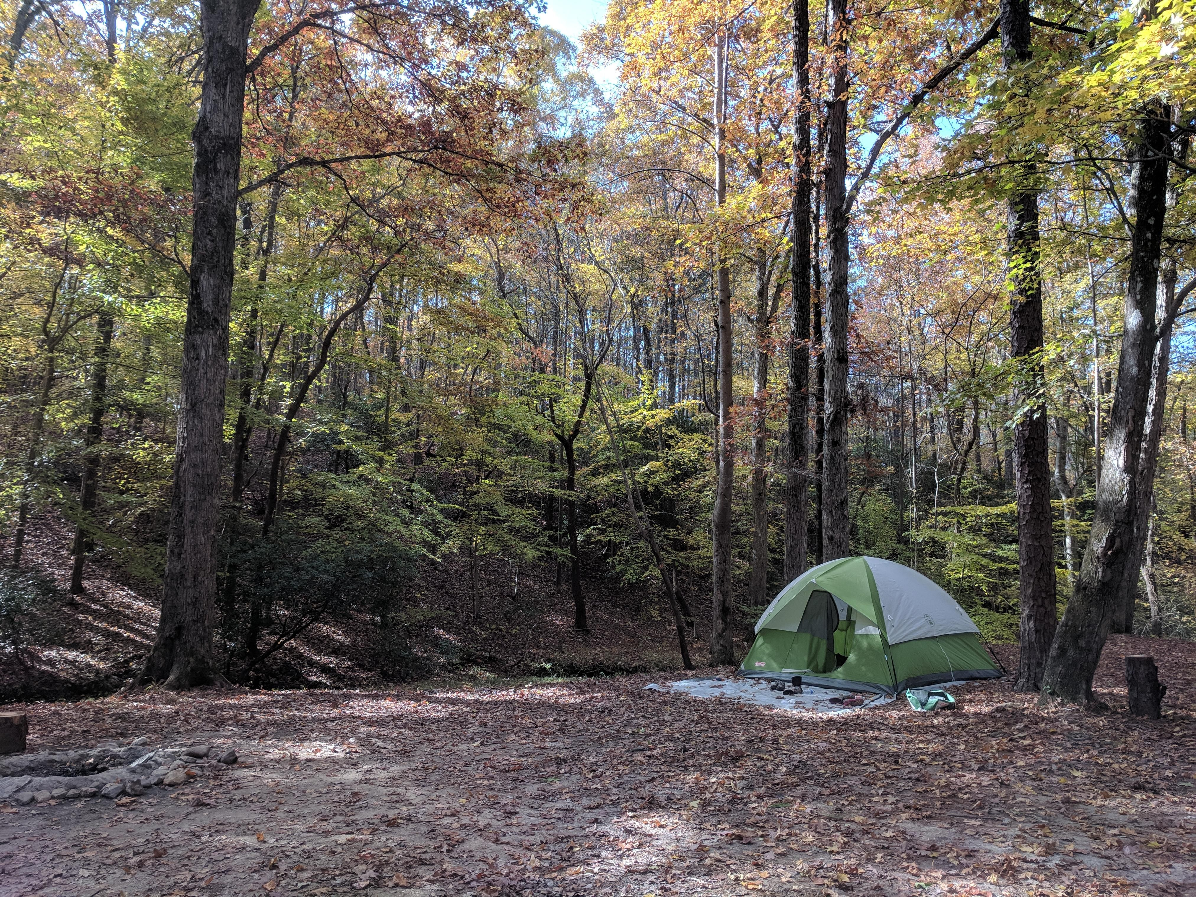 Camping in November near Cheaha State Park Alabama