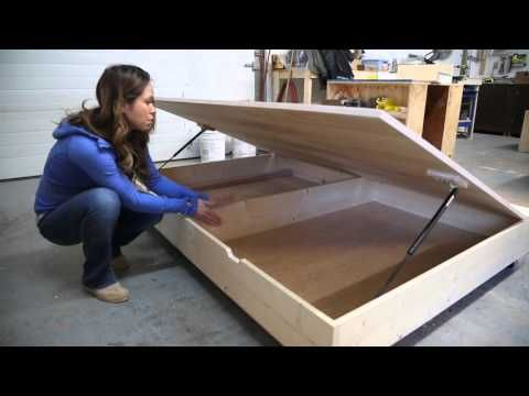 Diy lift up storage bed converts to sofa tiny house - Lift up storage bed ...