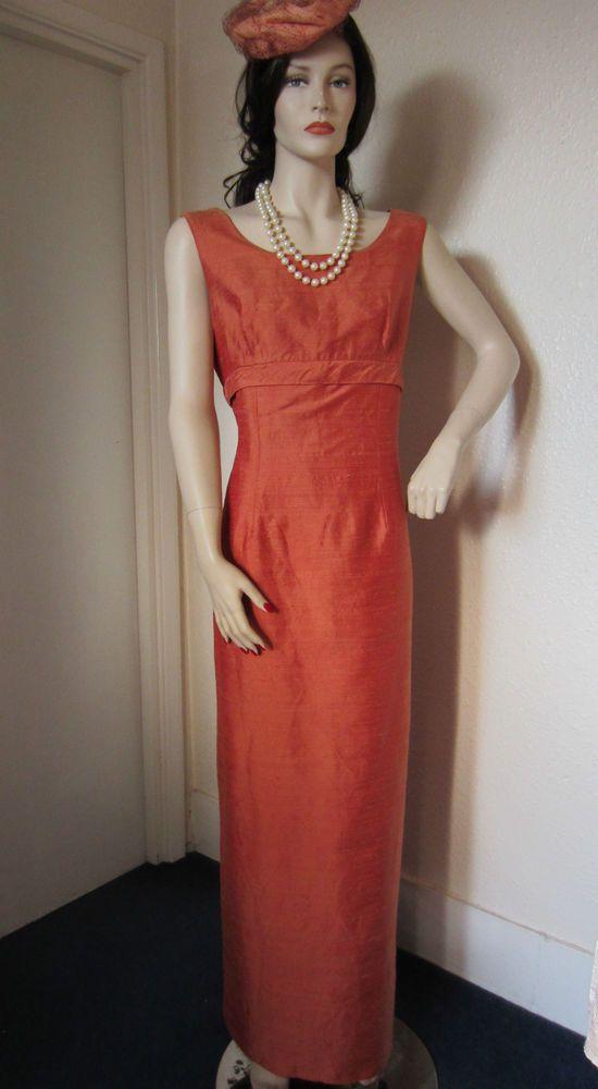 80s 90s Vintage Victoria Jane Ronald Joyce Raw Silk Bridesmaid