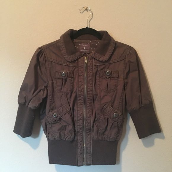 Forever 21  3/4 Aviator Jacket - Brown  So comfy! Adorable with jeans! Great for Spring and Fall weather! Size is Large, IMO It can fit size 0-6 comfortably.  Forever 21 Jackets & Coats