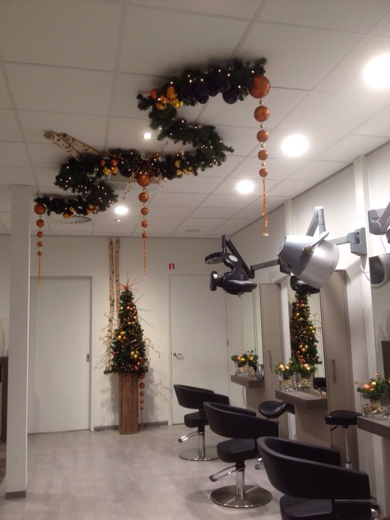 Christmas Decoration At Hairdressing Salon Styled And Created By