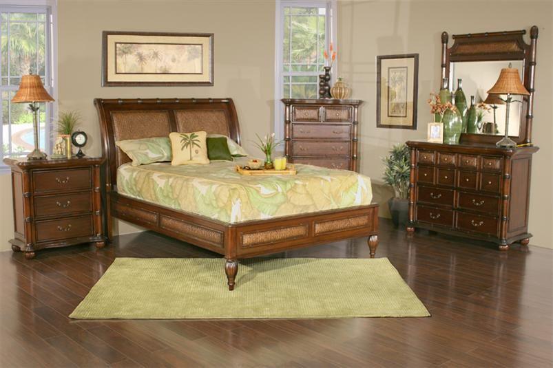 Tropics plantation 5 piece bedroom collection kane 39 s for Plantation bedroom set