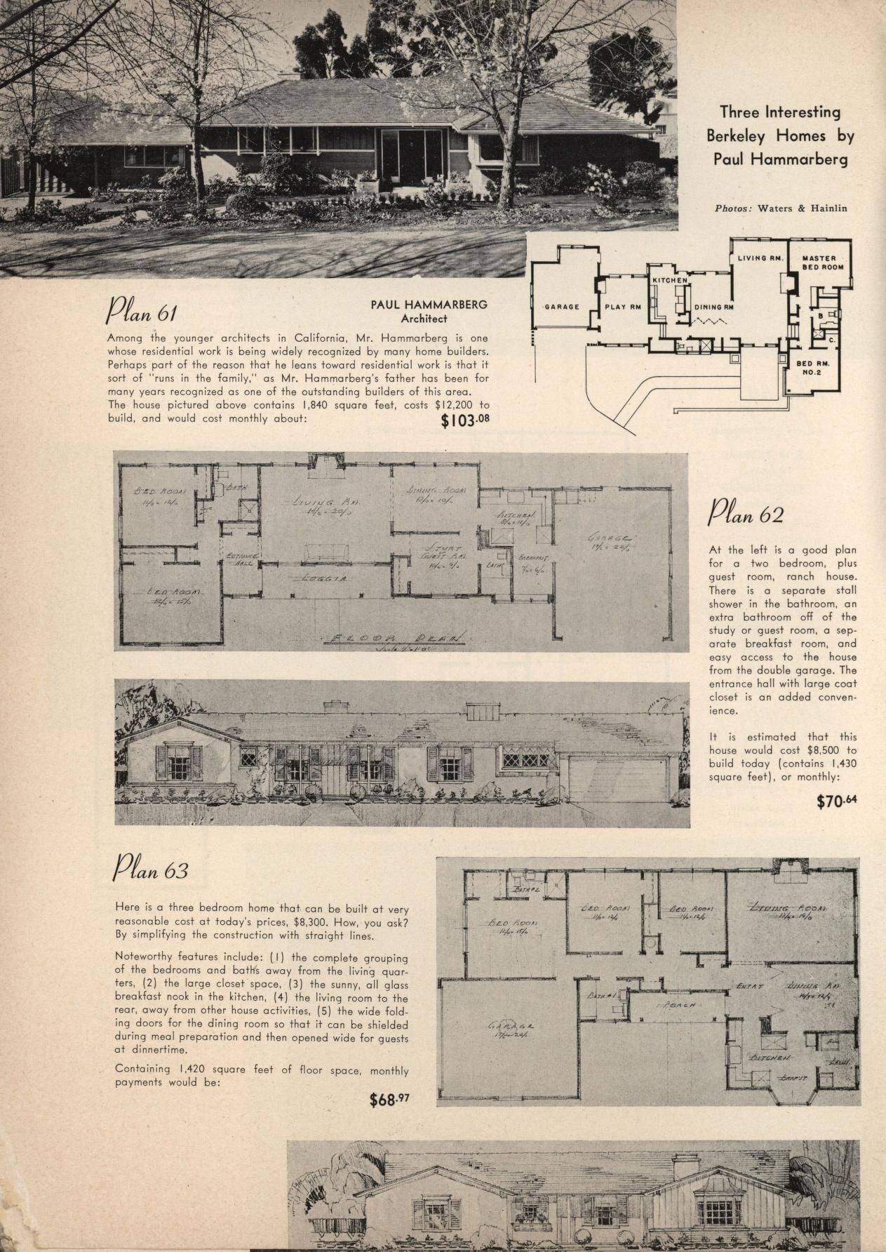 California Plan Book 2nd And Enlarged Edition Vintage House Plans Architectural Prints Berkeley Homes