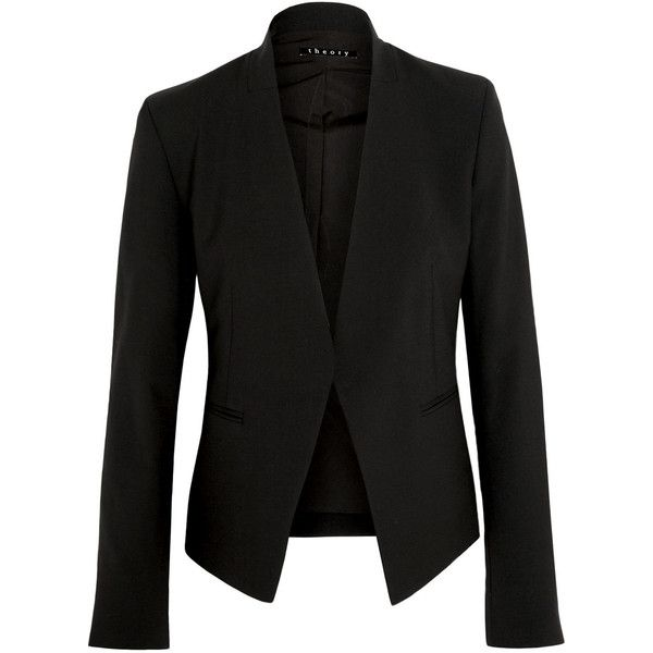 b22b583253 Theory Lanai stretch-wool crepe blazer (€390) ❤ liked on Polyvore featuring