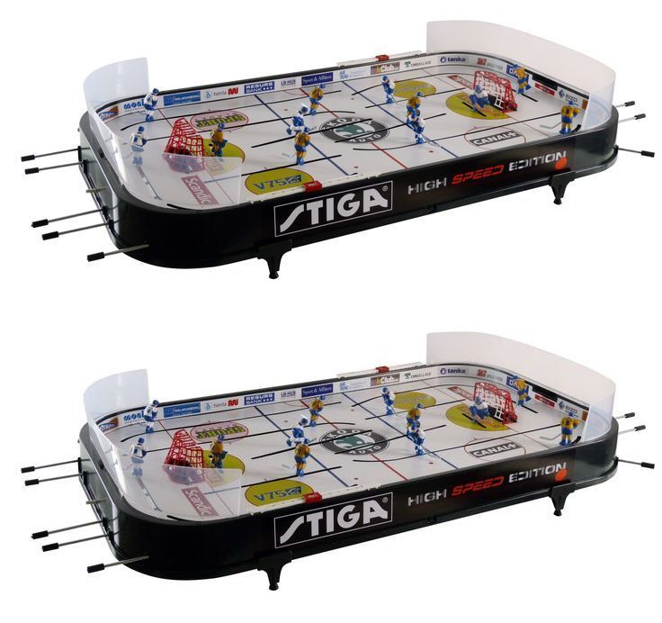 Air Hockey 36275: Stiga Ice Hockey Table Top High Speed Kids Portable Game  Room Play